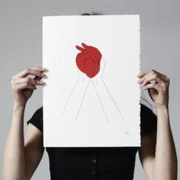 handmade human heart