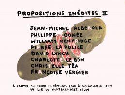 Propositions inédites II flyer Charlotte Le Bon